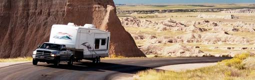 Fifth Wheel Trailer Desert